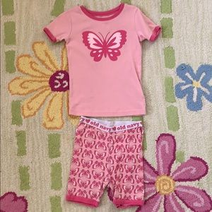 Old Navy butterfly 2 pc pajamas- size 5